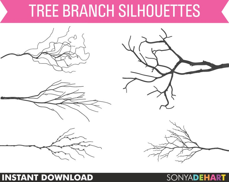 Tree Branch Clipart Tree Limb Clipart Branches Clipart Etsy