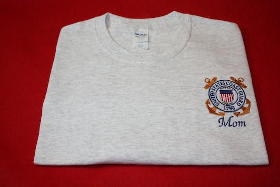 Embroidered Coast Guard T shirt Hoodie Sweatshirt
