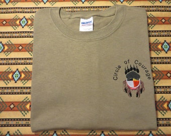 Embroidered Circle of Courage Native American T shirt