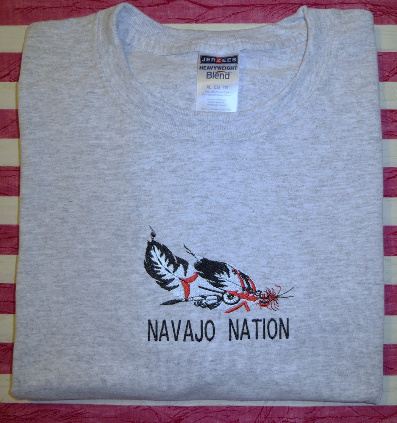Embroidered Navajo Nation Feathers T shirt or Sweatshirt