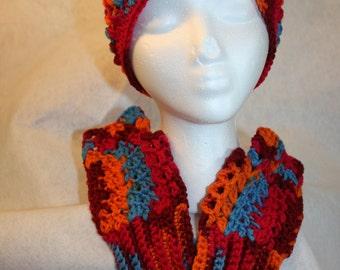 Handcrafted Crochet Hat and Fingerless Mitten Set