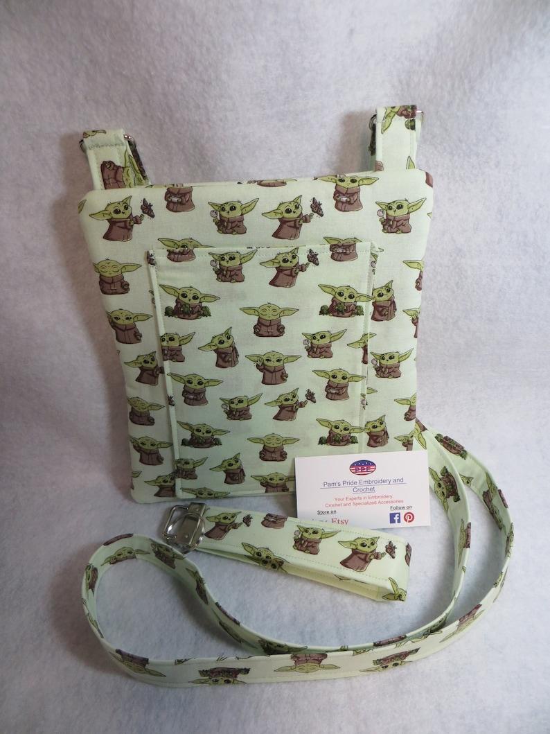 Handcrafted Baby Yoda Themed Crossbody bag Free shipping
