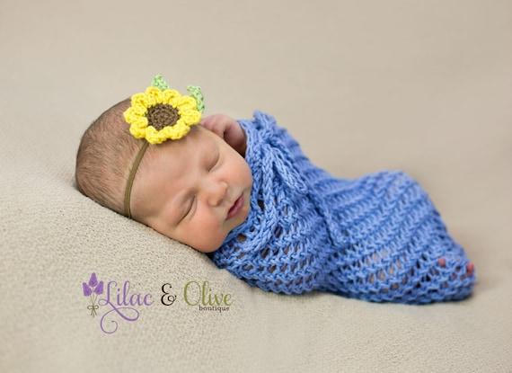 Baby Girl Sunflower Headband Newborn Headband Toddler Headband  95c64254aa9