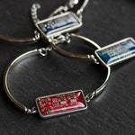 Recycled circuit board bracelet, stainless steel, unique unisex jewelry