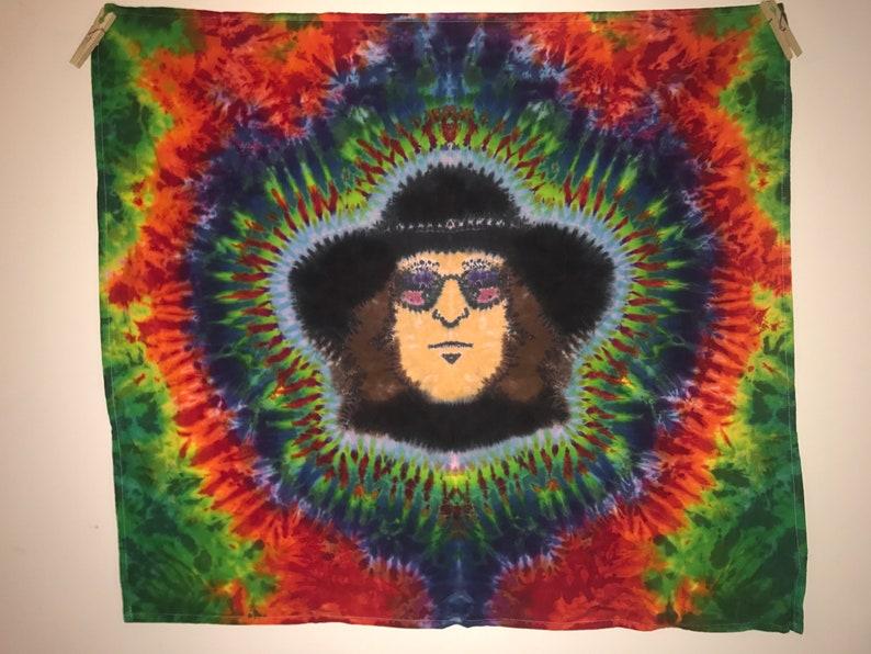 Tie Dye Tapestry  Portrait of John Lennon  32 X 36 image 0