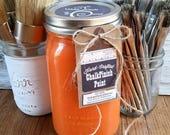Handmade Chalk Paint, Orange Wall Art, Pumpkin Decor, Burnt Orange Decor, Autumn Signs, Pumpkin Spice, DIY Halloween Decor, Fall Coffee Sign