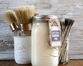 Handmade Chalk Paint, Cream Decor, Cream Furniture, Vintage Furniture, Cream Frames, Painted Furniture, Cream Chairs, Farmhouse Table, Wood