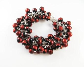 Fancy cha cha cluster bracelet
