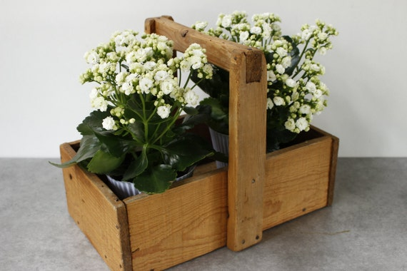 Giardino in legno rustico francese dell 39 annata trug etsy - Giardino in francese ...