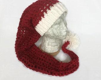 Crochet Christmas Hats Adults.Crochet Santa Hat Etsy