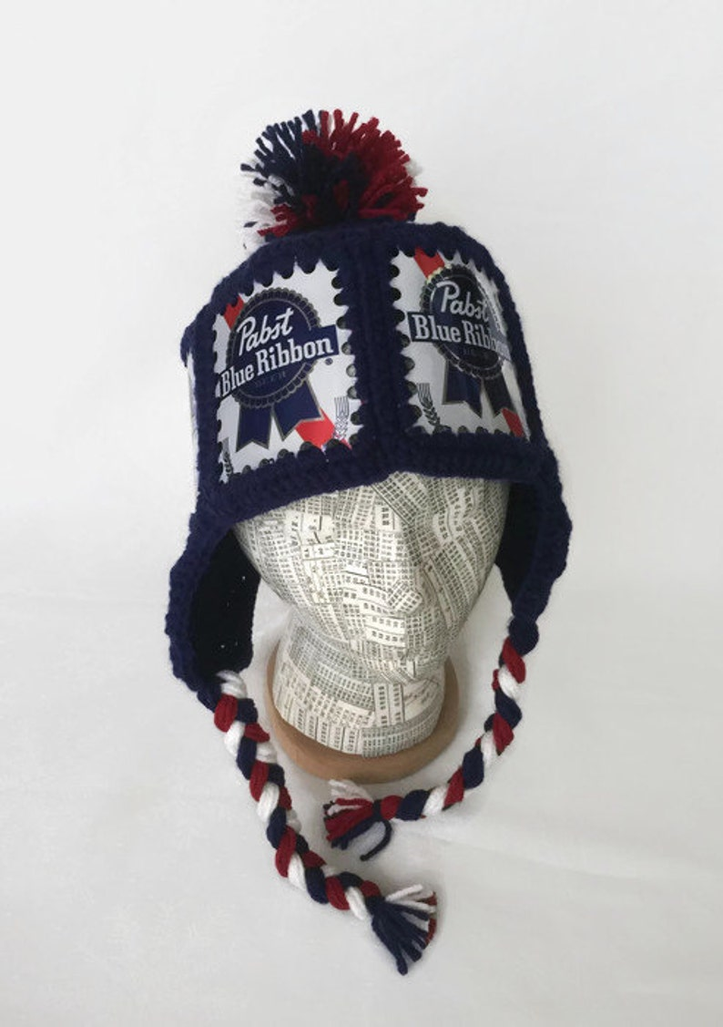dfa8620f293 Pabst Hat   PBR Hat   Pabst Crochet Beer Can Hat   PBR Beer