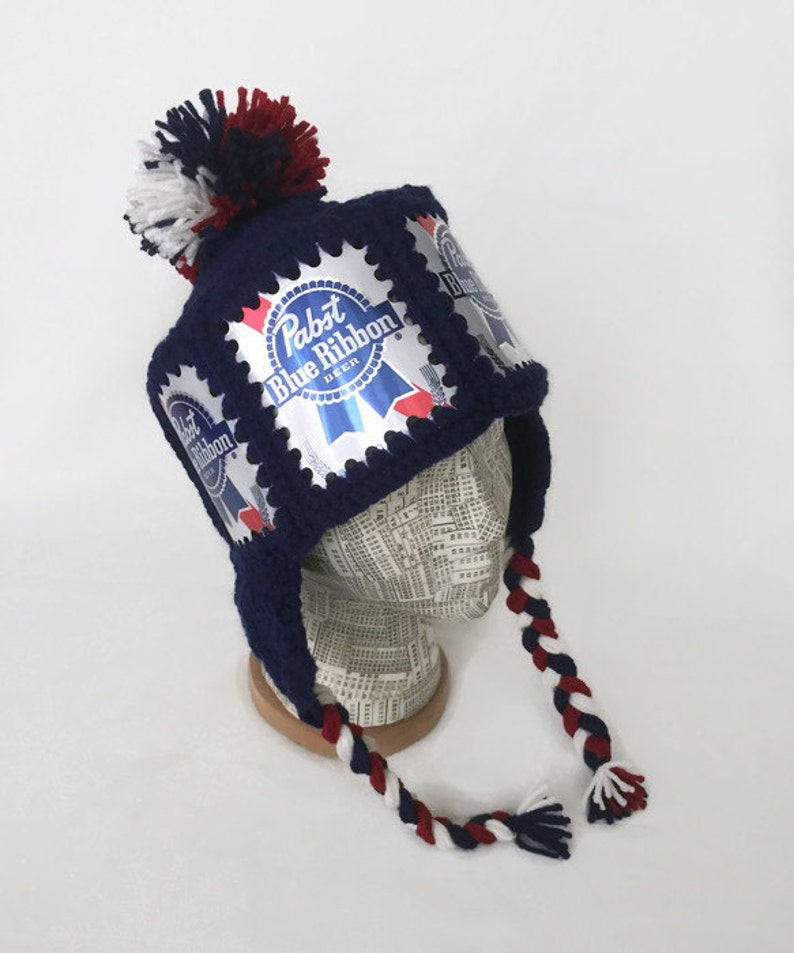 3cdc9815276 Pabst Hat   PBR Hat   Pabst Crochet Beer Can Hat   PBR Beer