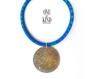 Boho necklace, circle pendant, hammered, brass necklace, metalwork, minimal, patina, tribe, unique gift, bohemian.