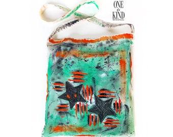 Ηand painted  tote bag, canvas, Eco bags, Funky, Textile,  cotton bag, colorful, abstract art, unique gift, fashion accessory, yoga mat.