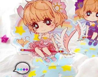 "FINAL SALE CardCaptor Sakura Double Sided Acrylic Standee 4"" Sakura Kero"