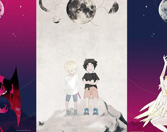 Devilman Crybaby Triptych theme High Quality Poster Anime Akira Ryo