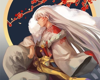 Sesshomaru High Quality Poster Inuyasha