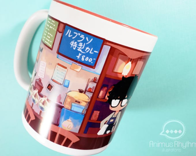 11oz Persona 5 Cafe Leblanc 11oz Coffee Mug Cup Anime Joker Akira Morgana Game