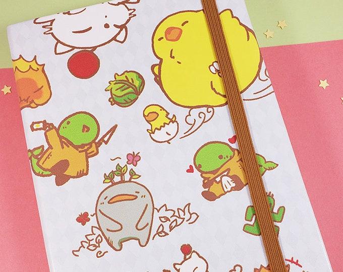 Big Final Fantasy Chocobo Travel Notebook Journal Sketchbook Moogle Bomb Tonberry Anime Game