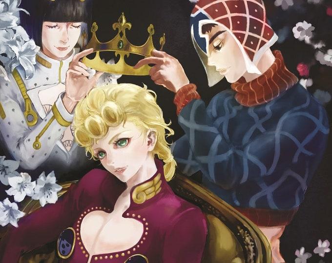 JOJO Golden wind High Quality Poster Giorno Giovanna Bucciarati Mista Anime Jojo's bizarre adventure