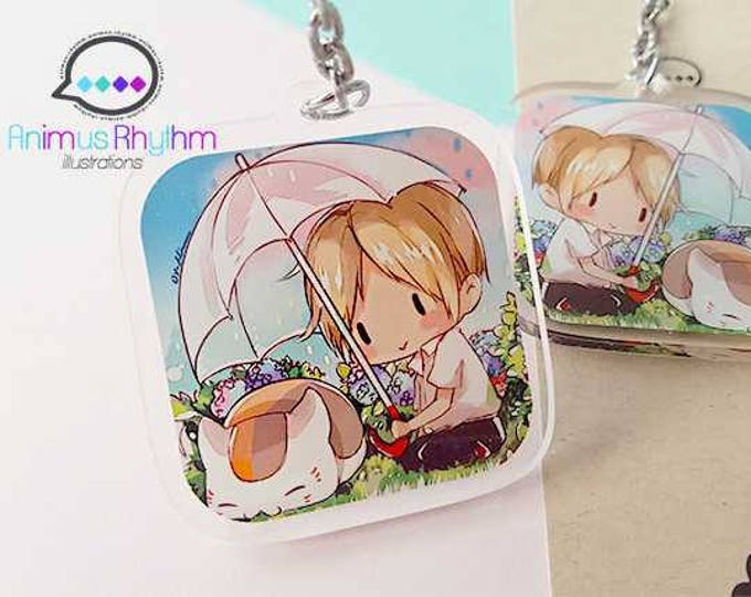 Natsume Yuujinchou Clear Acrylic Keychain 2 inches double sided Natsume's Book of Friends anime