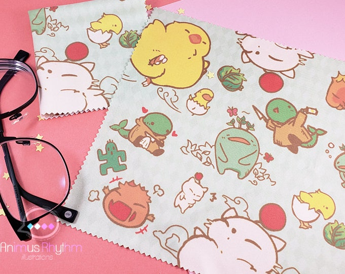 Final Fantasy Mascot Microfiber Cloth 7"