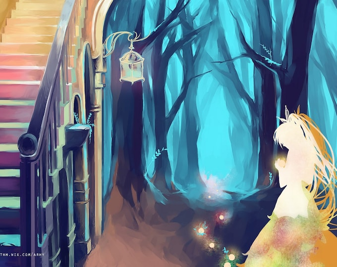Path High Quality Poster Anime Fairy Tale Original Character Illustration Wall