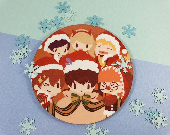 Persona 5 Mug Coaster Christmas Cup Joker Akechi Futaba Yusuke Ann Ryuji Anime Game