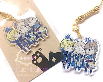 Crystal Clear Acrylic straps charm: Fire Emblem Hero Fates Leo Takumi Corrin Conquest Birthright game