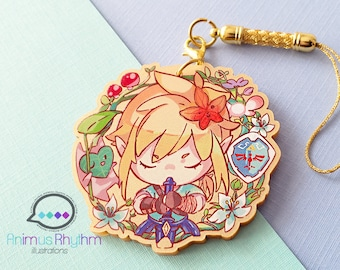 Golden Acrylic strap charm: Zelda Breath of the Wild Link 2in game anime