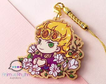Golden Acrylic strap charm: JoJo Giorno Giovanna Golden Wind 2in game anime