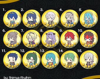 Fire Emblem Heroes 5 Stars Pin Set