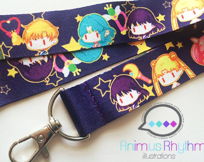 Sailor moon Lanyard anime badge holder sailor scouts