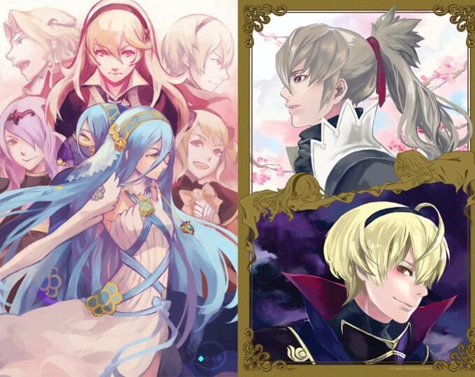 FINAL SALE Fire Emblem Fates Hero: Nohr Azura Leo Takumi High Quality Poster 11x17