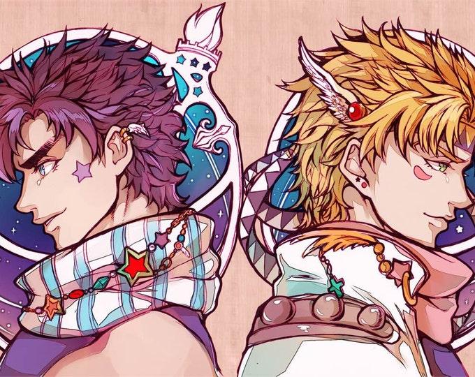 JOJO's Bizarre Adventure : JOJO & Caesar High Quality Poster anime
