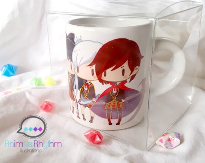 4oz Mini Ceramic Mug: RWBY Ruby Weiss Blake Yang