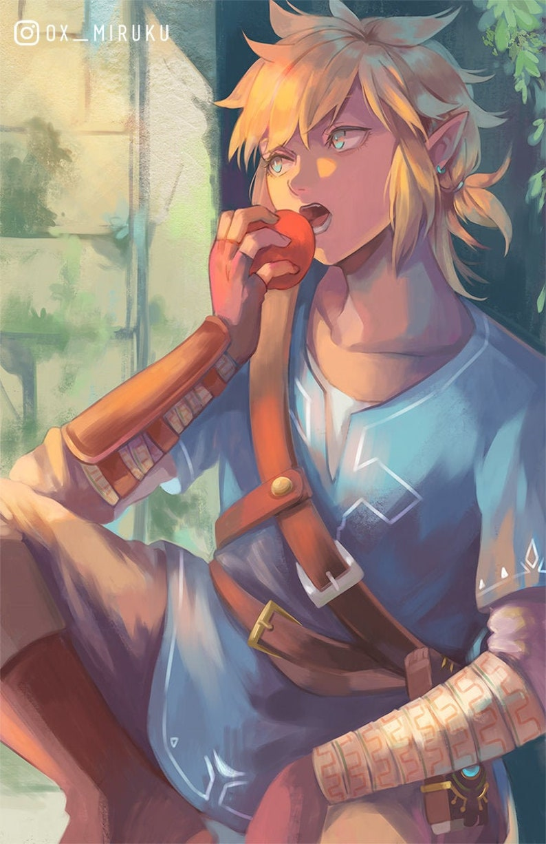 Zelda Botw High Quality Poster Breath Of The Wild Game Nintendo Link Print