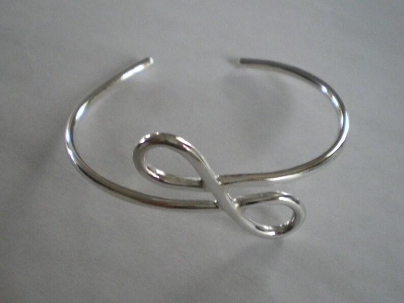 Handmade Sterling Silver Figure Eight Infinity Sign Bracelet image 0
