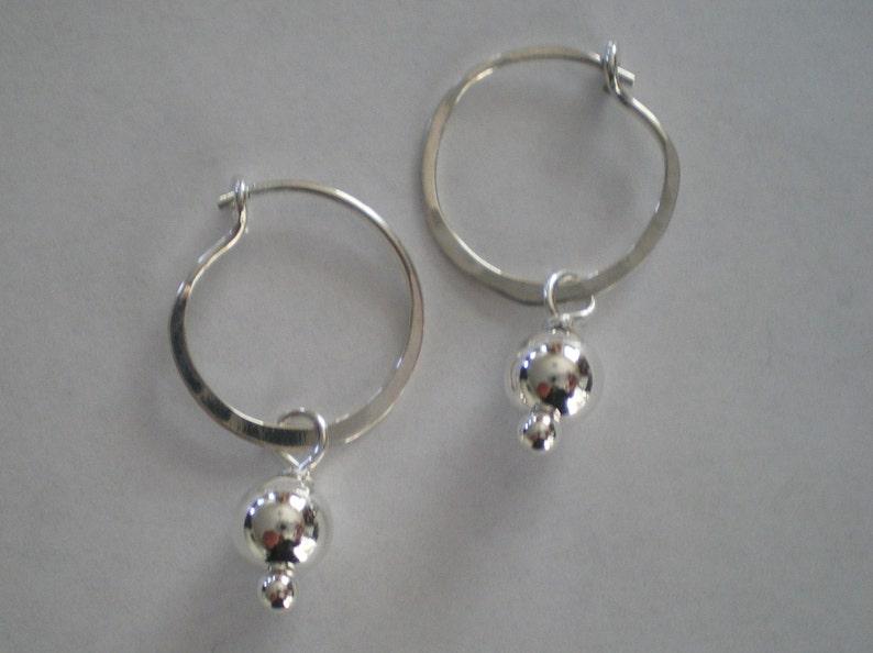 Handmade Sterling Silver Hoop Earrings image 0