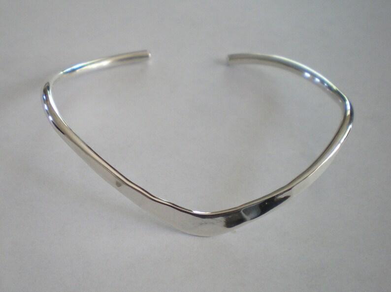 Handmade Sterling Silver Classic Curve Bracelet image 0