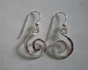 Handmade Sterling Silver Spiral Earrings