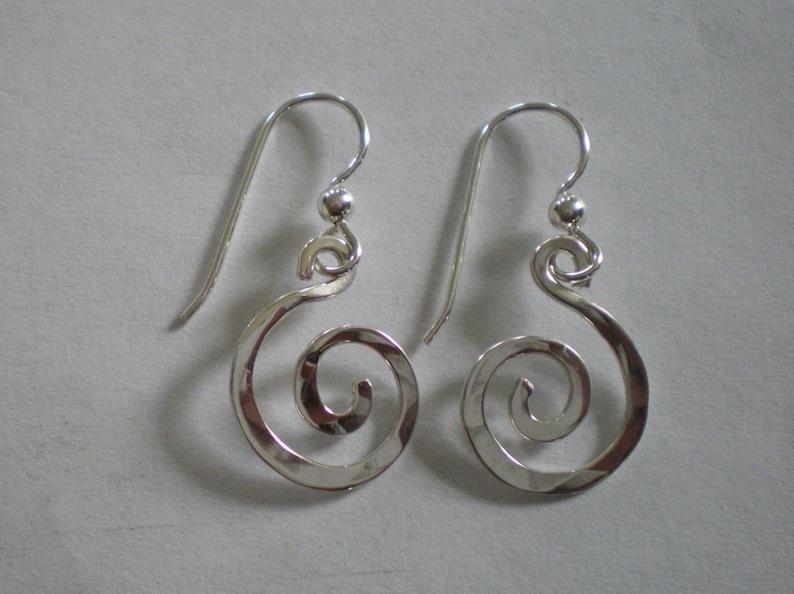 Handmade Sterling Silver Spiral Earrings image 0