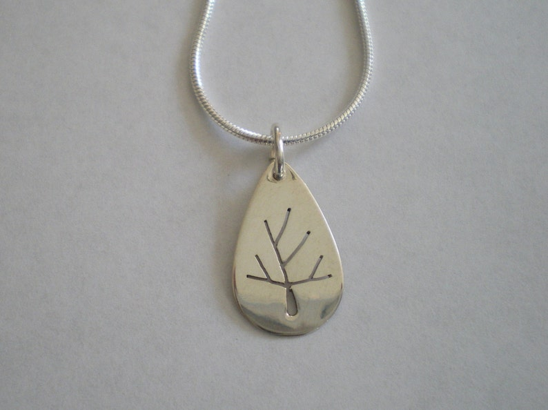 Sterling Silver Tree of Life Pendant sawed by hand optional image 0