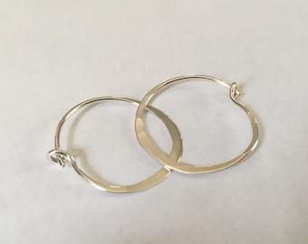"""Sterling Silver 1"""" Hoop Earrings"""