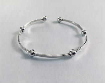 Handmade Sterling Silver Beaded Bracelet
