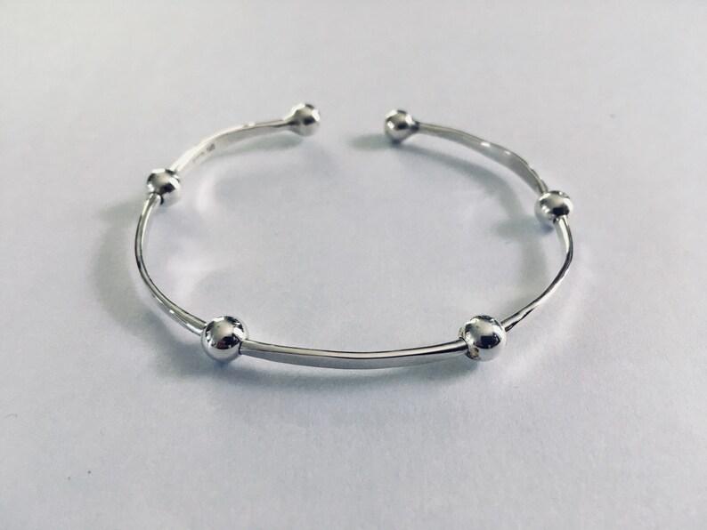 Handmade Sterling Silver Beaded Bracelet image 0