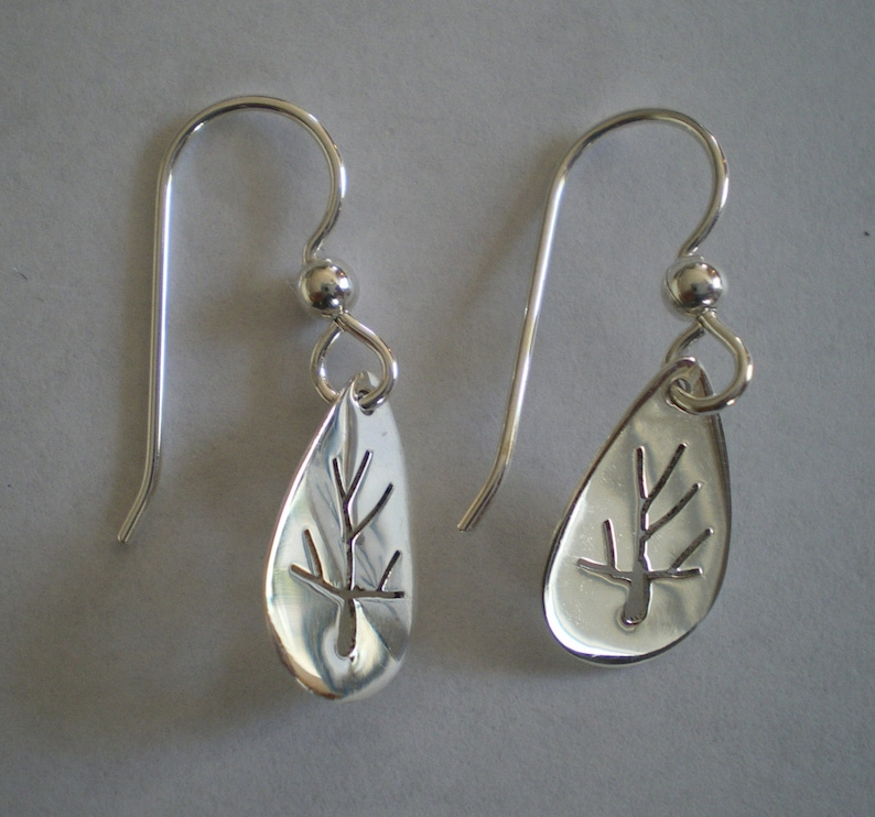Sterling Silver Tree of Life Earrings sawed by hand image 0