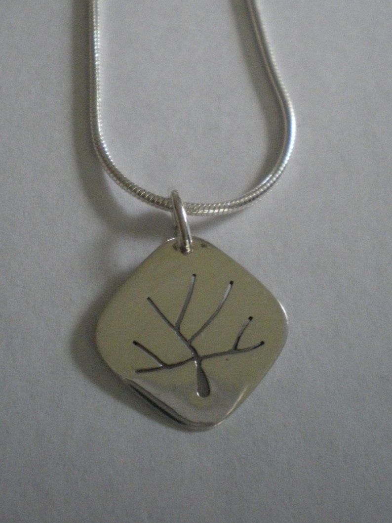 Sterling Silver Tree of Life Pendant sawed by hand on optional image 0
