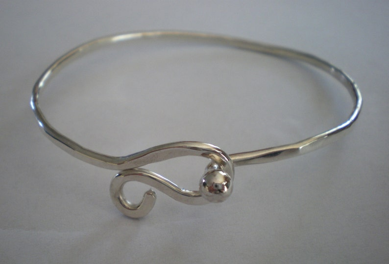 Sterling Silver Ball Clasp Bracelet image 0