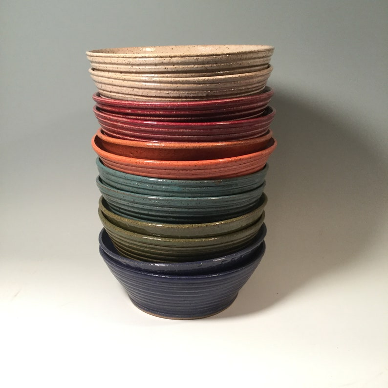 Choose your color ceramics Custom order Set of Two Pottery Soup Bowls -Made to Order large pottery soup bowls stoneware pottery